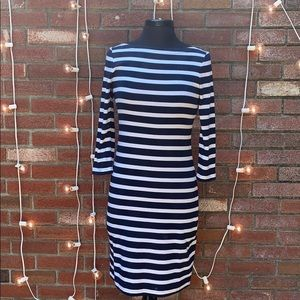 Gap Blue and White Striped Dress T-shirt Material